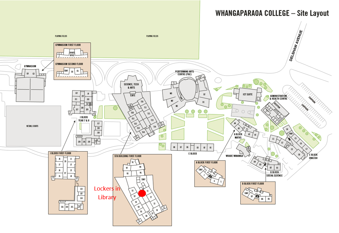 WGP map with lockers in library only